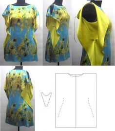 Tunic Pattern with under-arm insets-brilliant