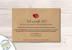 Einladungskarten - Einladung zum Geburtstag mit Umschlag // personal. - ein Designerstück von postkartendesign24 bei DaWanda