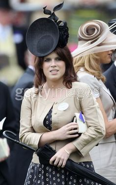Princess Eugenie wearing an awesome Philip Treacy hat at Royal Ascot... #fascinators #hats #millinery