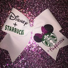 Disney Starbucks Happiness Cheer Bow by cheerblingbowtique14