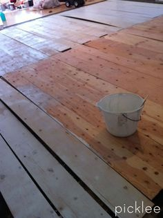 plywood_floor_diy_wide plank white love this idea. Plywood Flooring Diy, Wide Plank Flooring, Hardwood Floors, Laminate Flooring, Reno, Home Projects, Home Remodeling, Home Improvement, New Homes