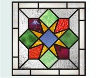 Christmas simple quilt star 1 easy stained glass christmas star pattern with quilt motif []$2.00 | PDQ Patterns