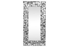 Miriam Floor Mirror, Silver on OneKingsLane.com