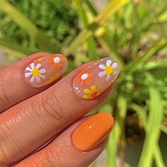 Simple Acrylic Nails, Best Acrylic Nails, Simple Nails, Rounded Acrylic Nails, Summer Acrylic Nails, Acrylic Nails Designs Short, Nail Design For Short Nails, Shellac Designs, Cute Nail Art Designs