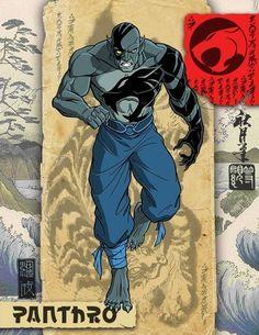 Meet the Samurai ThunderCats of ancient Japan in this awesome fanart-- Panthro Comic Manga, Anime Comics, Comic Books Art, Comic Art, Thundercats Cartoon, Thundercats 2011, Thundercats Characters, 80s Characters, Gi Joe