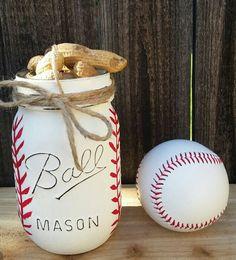 Hand Painted Baseball Mason Jar, Teacher Gift, Baseball Coach Gift, Teacher Appreciation, Pencill Holder, Baseball Mason Jar, Gifts for Him by ArnasLovelyBoutique on Etsy https://www.etsy.com/listing/240422860/hand-painted-baseball-mason-jar-teacher