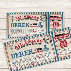 All aboard the Birthday Express with this train inspired birthday invitation!!! **This invite can also be adjusted for baby showers, weddings,