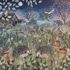Some night time friends xxx Fancy Art, Art Painting, Animal Art, Fantasy Art, Naive Art, Wildlife Art, Whimsical Art, Art, Fairytale Art