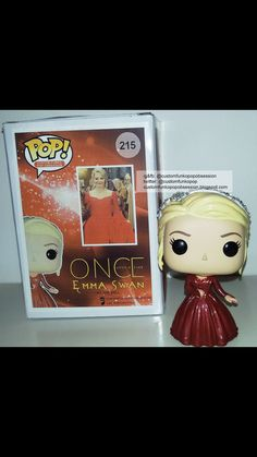 """""""Our custom funko pop of Emma Swan from Once Upon A Time. Funko Pop Dolls, Funko Pop Figures, Pop Vinyl Figures, Once Upon A Time Funny, Once Up A Time, Custom Funko Pop, Funko Pop Vinyl, Ouat, Emma Swan"""