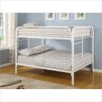 Cottage White Full Over Full Bunk Bed - Coaster 460056W   SPECIAL PRICE: $519.00