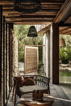 Home Interior Hallway Be Tulum Dot Pop.Home Interior Hallway Be Tulum Dot Pop Patio Interior, Interior And Exterior, Outdoor Spaces, Outdoor Living, Outdoor Decor, Indoor Outdoor, Outdoor Furniture, Be Tulum Hotel, Deco Ethnic Chic