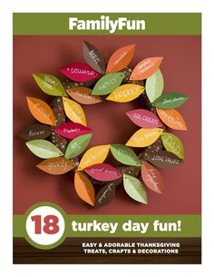 Download FamilyFun's free Thanksgiving booklet for tons of fun Turkey Day crafts and treats!