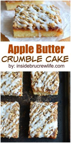 Apple butter and a cinnamon crumble topping make this the perfect fall cake for breakfast or snack.