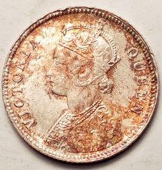 Amazon.com : INDIA 1862 1/4 RUPEE ORIGINAL TONING GEM...FOREIGN COIN : Everything Else