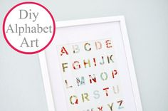This would be great for Maggie's nursery! I kind of have an alphabet theme going! :)