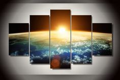 Style Your Home Today With This Amazing 5 Pieces Multi Panel Modern Home Decor Framed Sunrise Wall Canvas Art For $99.98 Discover more canvas selection here http://www.octotreasures.com If you want to create a customized canvas by printing your own pictures or photos, please contact us.