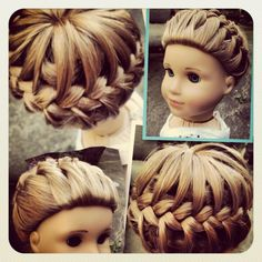 Starburst braid as shown on YouTube--(I know it's on a doll, but you can do the same with a real person)
