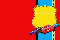 convite do tema carros na cor vermelha