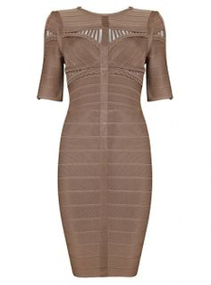 Coffee Sexy Hollow Lace Bandage Dress H517B ($99 , original price is $118.8) http://www.udobuy.com/goods-13630.html#.Us-GVtLEeeo