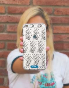 funda-movil-black-pineapple-2 Pineapple, Phone Cases, Blue, See Through, Mobile Cases, Blue Nails, Pinecone, Phone Case