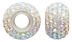 12 x 8mm Sterling Silver October ROSE Pave Crystal by minordtails, $12.75