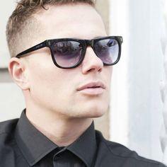 Matt Pardus in Latitude Sunglasses in Blue Tort