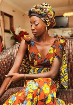 gorgeous #African print dress