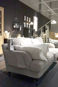 "A Sneak Peek at IKEA's New 2015 Collections (NOTE: IKEA 2015, ""slouchy, curvy, comfy sofa (with very stylish legs!)"")"