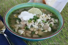 White Chicken Chili from Our Best Bites - the perfect meal on a chilly day! Easy to make & uses ingredients that are usually already in the kitchen!