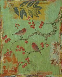 (thevintagefiles:myaloysius:elaine4queen:overthetrail) Purple Finches (#4) by Paul Brigham