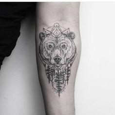 nice gristle bear tattoo design by @emrahozhan