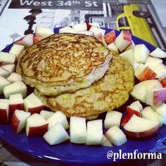 Tortitas o pancakes fitness (menos de 100 Kcal. por tortita)