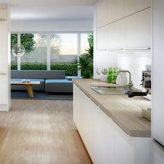 Kök Marbodal Arkitekt Plus Kritvit - 2203 Outdoor Sofa, Outdoor Furniture Sets, Outdoor Decor, Living Room Interior, Interior Design Living Room, Design Trends, Dining Bench, Kitchen, Home Decor