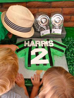 Soccer - green, black & white Birthday Party Ideas | Photo 1 of 21 | Catch My Party