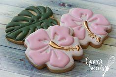 Hawaiian Cookies, Luau Cookies, Summer Cookies, Fancy Cookies, Easter Cookies, Birthday Cookies, Cupcake Cookies, Cupcakes, Cookie Favors