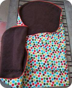 Para mi peque con amor: Manta-saco para bebé (referencia a patrón y tutorial).