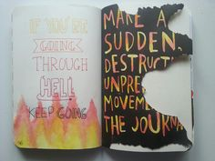 alicelovespizza: Make a sudden, destructive, unpredictable moviment with the journal - Wreck This Journal