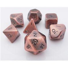 Metal Dice Copper RPG