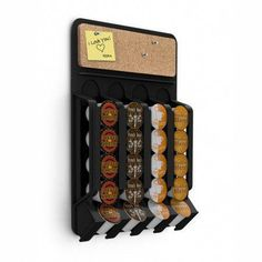 Keep all your favorite coffee pods within arm's reach with the Mind Reader Mounty Fridge/Wall Coffee Pod Dispenser with Cork Top . This wall-mounted. K Cup Storage, Coffee Pod Storage, Coffee Pod Holder, Coffee Pods, Kitchen Storage, Coffee Club, Wall Storage, Coffee Beans, Home Design