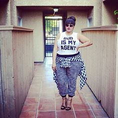 Stylish plus size sweatpants « Clothing for large ladies Plus Size Fall Outfit, Plus Size Outfits, Curvy Girl Fashion, Plus Size Fashion, Fashion Idol, Women's Fashion, Fashion Tips, Cute Summer Outfits, Fall Outfits