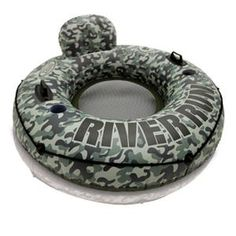 Intex River Run I Camo Inflatable Floating Tube Raft with Cup Holders Floating Lounge, River Camp, Pool Rafts, Inflatable Float, Water Party, Water Toys, Lidl, Sports Equipment, Accessories
