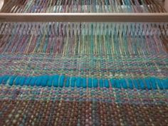 Tela con lana teñida y vellón