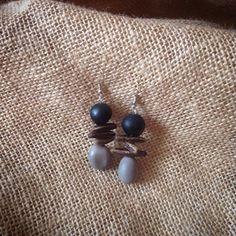 Boucles d'oreilles fait en graines naturelles