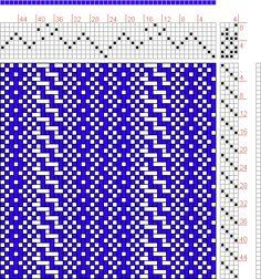 Hand Weaving Draft: 24089, 2500 Armature - Intreccio Per Tessuti Di Lana, Cotone, Rayon, Seta - Eugenio Poma, 8S, 4T - Handweaving.net Hand Weaving and Draft Archive
