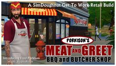 Budgie2budgie: Porkison's Meat and Greet BBQ and Butcher Shop • Sims 4 Downloads