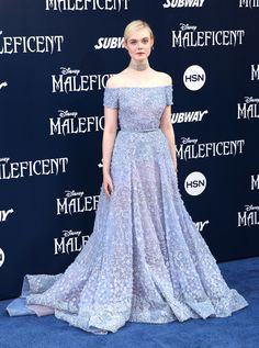 Elle Fanning looks like a Disney princess at the Maleficent premiere!
