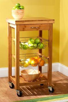Bamboo Kitchen Trolley - Natural