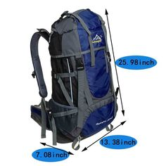 Hiking Backpack, Bags Shop 50L 5L Hiking Daypack for Travel Camping Climbing Outdoor Mountaineering *** Get more details by clicking on the image #CampingGear