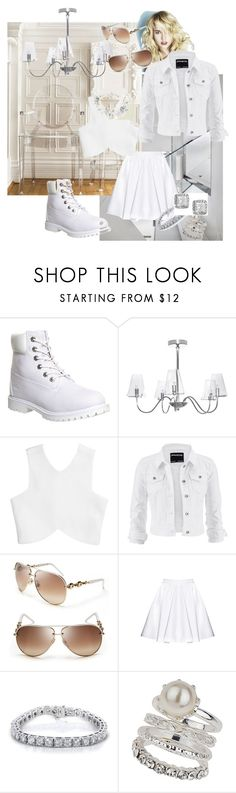 """""""when only white will do!"""" by mrsdivineright ❤ liked on Polyvore featuring Timberland, ET2, maurices, Gucci, Alice + Olivia, Kobelli, Wallis and Betsey Johnson"""