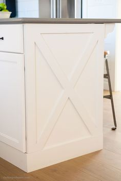 diy kitchen cabinet x style detail from our fixer upper farmhouse kitchen reveal www.theharperhouse.com #updatedkitchen